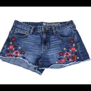 Gap Embroidered Denim Shorts